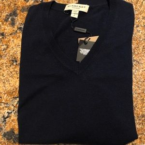 Cashmere Burberry London Sweater (Navy)